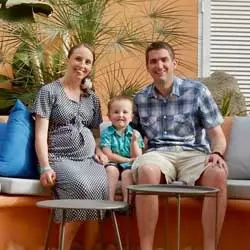 A photo of a family that visited Green Garden resort with Tots To Travel